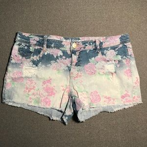 Mossimo- Jean Floral Shorts